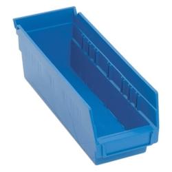 "11-5/8"" L x 4-1/8"" W x 4"" Hgt. Blue Quantum® Economy Shelf Bin"