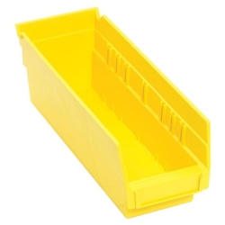 "11-5/8"" L x 4-1/8"" W x 4"" Hgt. Yellow Quantum® Economy Shelf Bin"