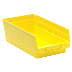 "11-5/8' L x 6-5/8"" W x 4"" Hgt. Yellow Quantum® Economy Shelf Bin"