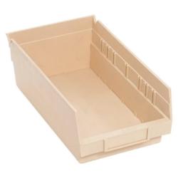 """11-5/8' L x 6-5/8"""" W x 4"""" Hgt. Ivory Quantum® Economy Shelf Bin"""