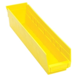 "17-7/8"" L x 4-1/8"" W x 4"" Hgt. Yellow Quantum® Economy Shelf Bin"