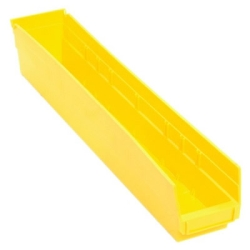 "23-5/8"" L x 4-1/8"" W x 4"" Hgt. Yellow Quantum® Economy Shelf Bin"