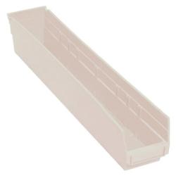 """Quantum® Economy Shelf Bin - 23-5/8"""" L x 4-1/8"""" W x 4"""" Hgt. Ivory"""