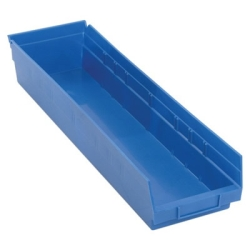 "Blue Quantum® Economy Shelf Bin - 23-5/8"" L x 6-5/8"" W x 4"" Hgt."