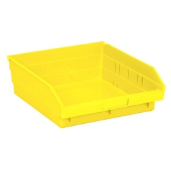 "11-5/8"" L x 11-1/8"" W x 4"" Hgt. Yellow Quantum® Economy Shelf Bin"