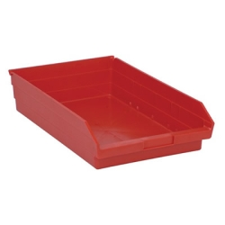"17-7/8"" L x 11-1/8"" W x 4"" Hgt. Red Quantum® Economy Shelf Bin"