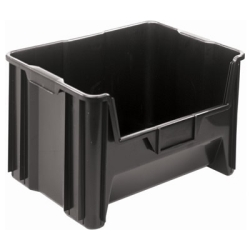 "15-1/4""L x 19-7/8""W x 12-7/8""H Black Quantum® Giant Stack Container"