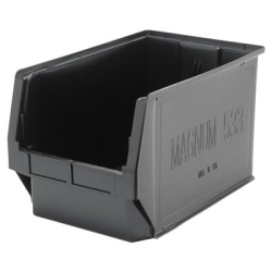 "Black Quantum® Magnum Storage Bin - 19-3/8"" L x 12-3/8"" W x 11-7/8"" Hgt."