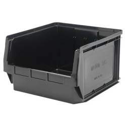 "Black Quantum® Magnum Storage Bin - 19-3/8"" L x 18-3/8"" W x 11-7/8"" Hgt."