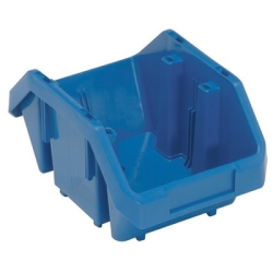 "9-1/2""L x 6-5/8""W x 5""H Blue QuickPick Double Sided Bin"