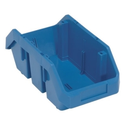 "12-1/2""L x 6-5/8""W x 5""H Blue QuickPick Double Sided Bin"