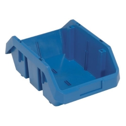 "12-1/2""L x 8-3/8""W x 5""H Blue QuickPick Double Sided Bin"