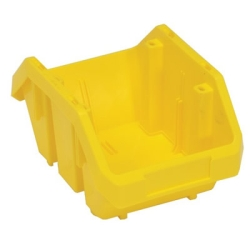 "9-1/2""L x 6-5/8""W x 5""H Yellow QuickPick Double Sided Bin"