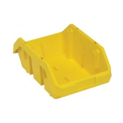"12-1/2""L x 8-3/8""W x 5""H Yellow QuickPick Double Sided Bin"