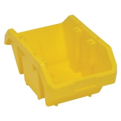 "14""L x 9-1/4""W x 6-1/2""H Yellow QuickPick Double Sided Bin"