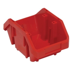"9-1/2""L x 6-5/8""W x 5""H Red QuickPick Double Sided Bin"