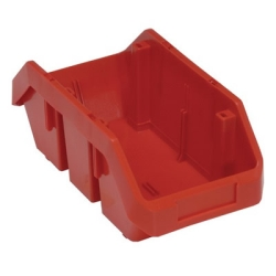 "12-1/2""L x 6-5/8""W x 5""H Red QuickPick Double Sided Bin"