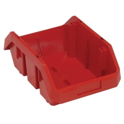 "12-1/2""L x 8-3/8""W x 5""H Red QuickPick Double Sided Bin"