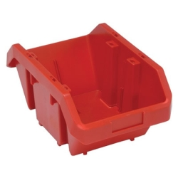 "14""L x 9-1/4""W x 6-1/2""H Red QuickPick Double Sided Bin"
