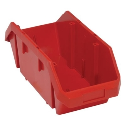 "18-1/2""L x 8-3/8""W x 7""H Red QuickPick Double Sided Bin"