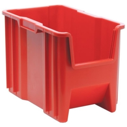 "17-1/2""L x 10-7/8""W x 12-1/2""H Red Quantum® Giant Stack Container"