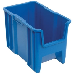"17-1/2"" L x 10-7/8"" W x 12-1/2"" Hgt. Blue Quantum® Giant Stack Container"