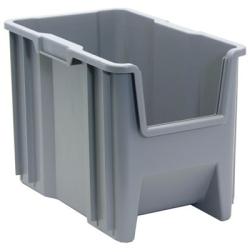 "17-1/2"" L x 10-7/8"" W x 12-1/2"" Hgt. Gray Quantum® Giant Stack Container"