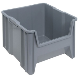 "17-1/2"" L x 16-1/2"" W x 12-1/2"" Hgt. Gray Quantum® Giant Stack Container"