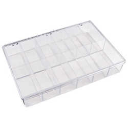 "K-Series™ Styrene 12 Compartment Box - 13-1/8"" L x 9"" W x 2-5/16"" Hgt."