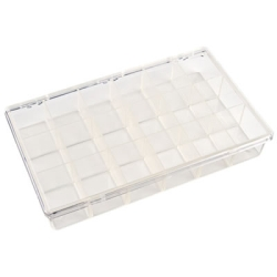 "K-Series™ Styrene 18 Compartment Box - 11"" L x 6-3/4"" W x 1-3/4"" Hgt."