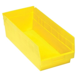 "17-7/8""L x 8-3/8""W x 6""H Yellow Quantum® Store-More Shelf Bin"