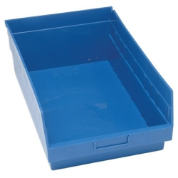 "17-7/8""L x 11-1/8""W x 6""H Blue Quantum® Store-More Shelf Bin"