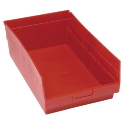 "17-7/8""L x 11-1/8""W x 6""H Red Quantum® Store-More Shelf Bin"