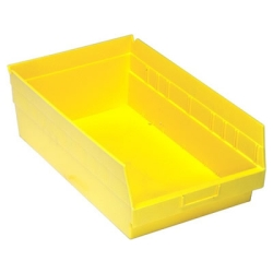 "17-7/8""L x 11-1/8""W x 6""H Yellow Quantum® Store-More Shelf Bin"