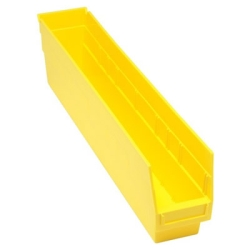"23-5/8""L x 4-1/8""W x 6""H Yellow Quantum® Store-More Shelf Bin"