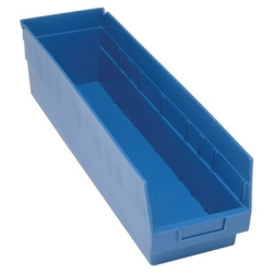 "23-5/8""L x 6-5/8""W x 6""H Blue Quantum® Store-More Shelf Bin"