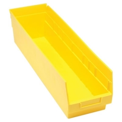 "23-5/8""L x 6-5/8""W x 6""H Yellow Quantum® Store-More Shelf Bin"