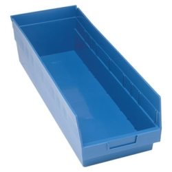 "23-5/8""L x 8-3/8""W x 6""H Blue Quantum® Store-More Shelf Bin"