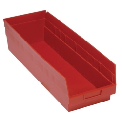 "23-5/8""L x 8-3/8""W x 6""H Red Quantum® Store-More Shelf Bin"