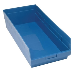"23-5/8""L x 11-1/8""W x 6""H Blue Quantum® Store-More Shelf Bin"