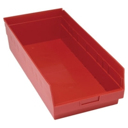 "23-5/8""L x 11-1/8""W x 6""H Red Quantum® Store-More Shelf Bin"