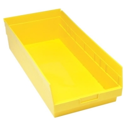 "23-5/8""L x 11-1/8""W x 6""H Yellow Quantum® Store-More Shelf Bin"