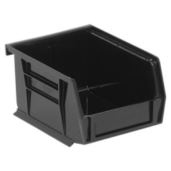 "5-3/8""L x 4-1/8""W x 3""H Black Quantum® Ultra Series Stack & Hang Bin"