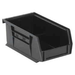 "7-3/8""L x 4-1/8""W x 3""H Black Quantum® Ultra Series Stack & Hang Bin"