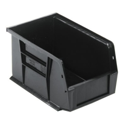 "9-1/4""L x 6""W x 5""H Black Quantum® Ultra Series Stack & Hang Bin"
