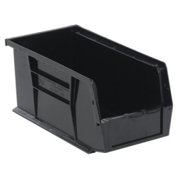 "Black Quantum® Ultra Series Stack & Hang Bin - 10-7/8"" L x 5-1/2"" W x 5"" Hgt."