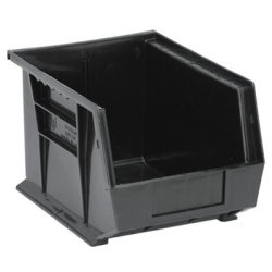 "Black Quantum® Ultra Series Stack & Hang Bin - 10-3/4"" L x 8-1/4"" W x 7"" Hgt."
