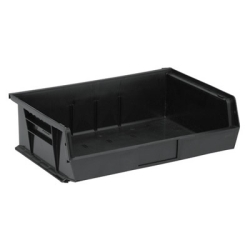 "10-7/8""L x 16-1/2""W x 5""H Black Quantum® Ultra Series Stack & Hang Bin"
