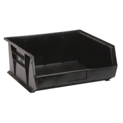 "14-3/4""L x 16-1/2""W x 7""H Black Quantum® Ultra Series Stack & Hang Bin"