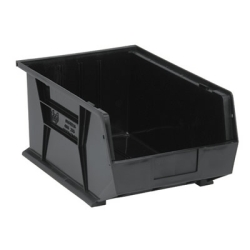 "16""L x 11""W x 8""H Black Quantum® Ultra Series Stack & Hang Bin"